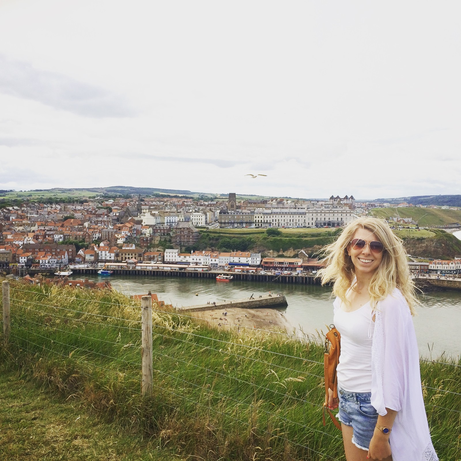 Stood looking over the harbour in Whitby