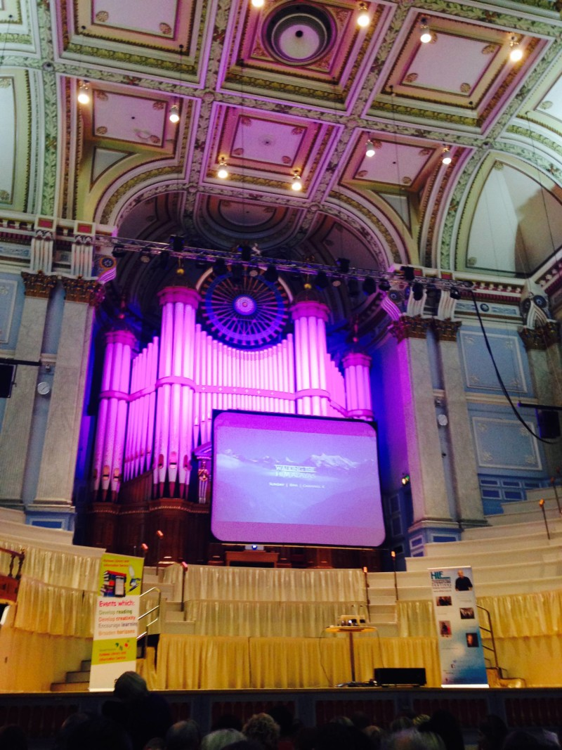 An evening with Levison Wood at Huddersfield Town Hall February 2016