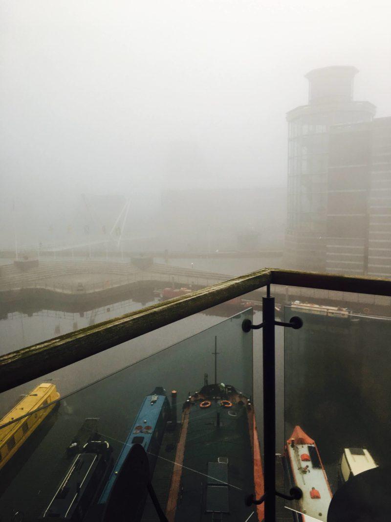 Leeds Dock in the fog