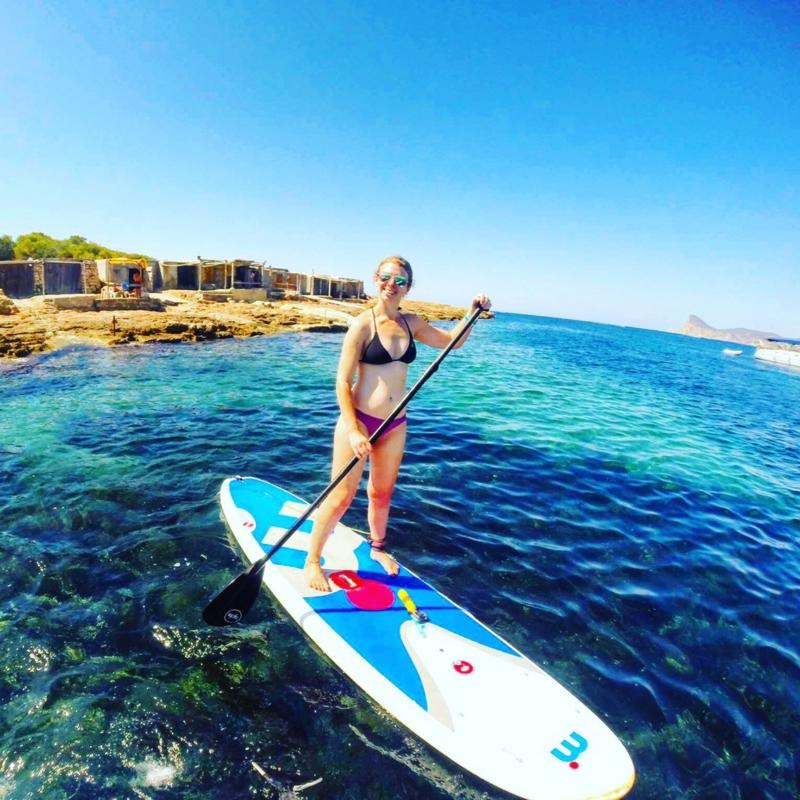 Paddle boarding In Ibiza