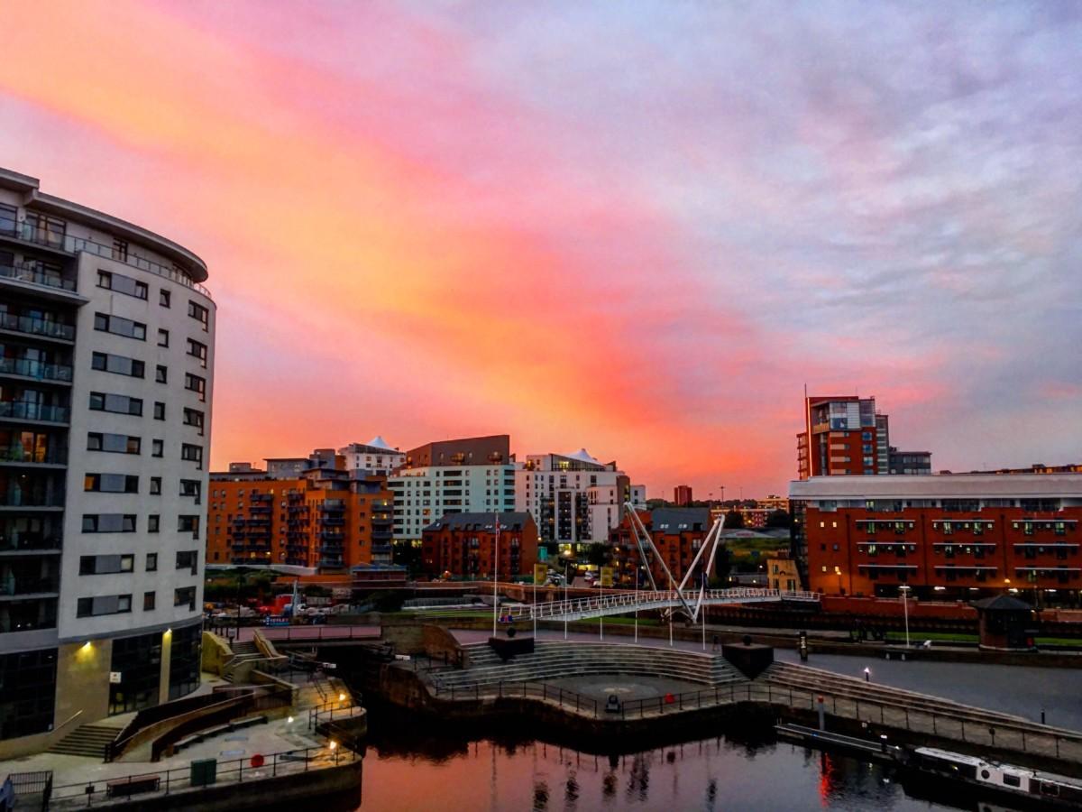 Sunset at Leeds Dock