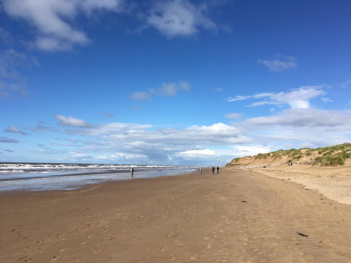Formby beach in the sun