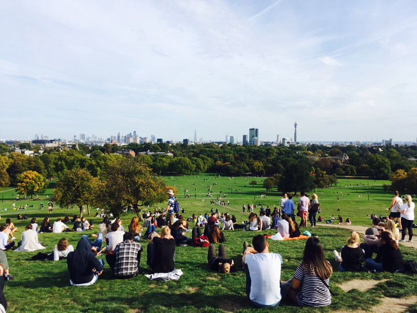 Looking over to London from Primrose Hill