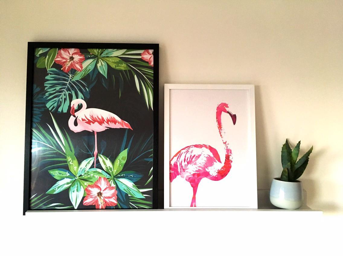 Flamingo prints from desenio