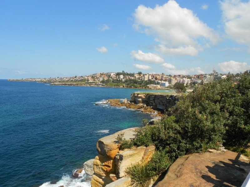 a view towards coogee from the bondi to coogee coastal walk