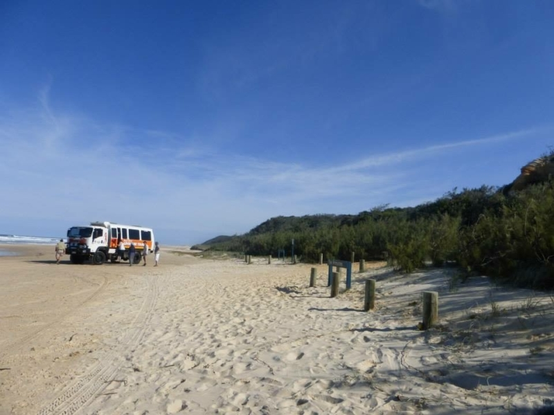 75 mile beach on fraser island