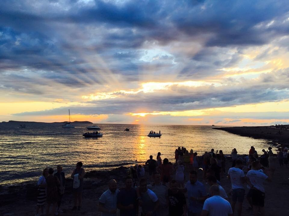 The sunset in Ibiza